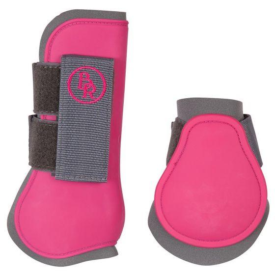 BR Cuerda y cuerda BR Melange Excl. Establecer protección de cuerdas. y correas de botas de montar fetlock