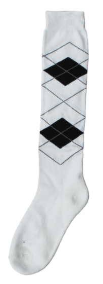 Excellent Calcetines hasta la rodilla RE b.blanco / negro 43-46