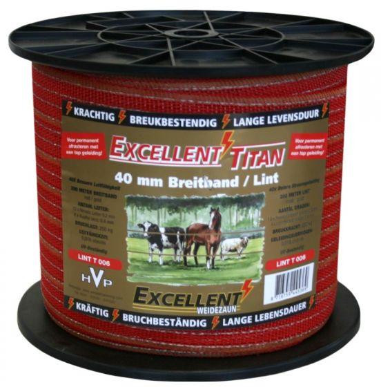 Hofman Cinta Excellent Titanium 200 m / 40 mm Red / Gold