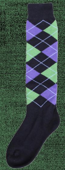 Excellent Calcetines hasta la rodilla RE negro / verde izquierdo / violeta 43-46