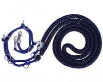 QHP Lunging support luxury Azul / negro