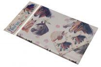 Papel de regalo con cabezas de caballo