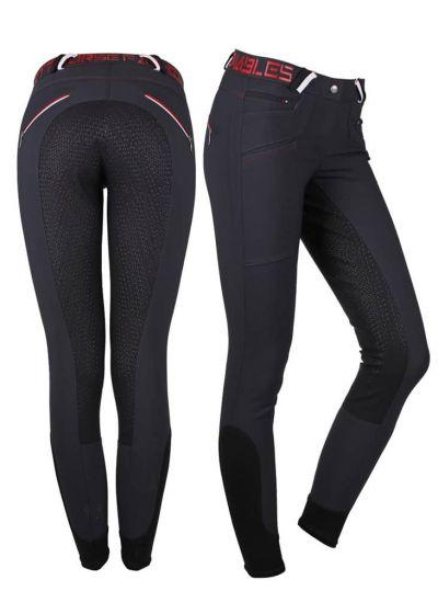 QHP Pantalones de Montar Lisa Antideslizante Seat