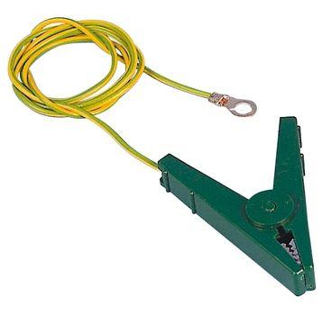 Hofman Cable de conexión a tierra Abrazaderas EC verde