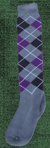 Excellent Calcetines hasta la rodilla RE gris / negro / violeta 43-46