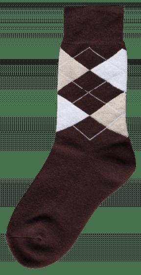 Excellent Calcetín de equitación marrón / beige / blanco 43-46