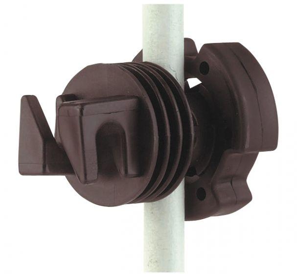 Hofman Aislador Tornillo para poste redondo de hasta 12 mm
