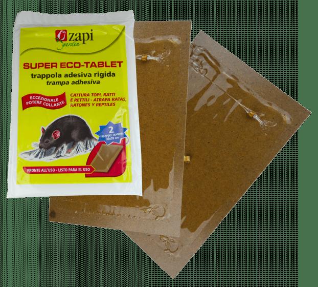 Zapi Super Tablet Trampa adhesiva para ratas y ratones 28x19cm