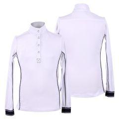 Camiseta de competición QHP Lois Junior blanca