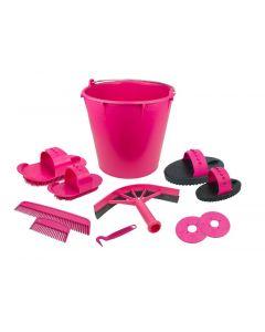 Hofman Set de pulidor de 10 artículos en cubo rosa