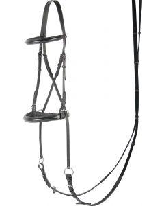 Cruces de Harry's Horse Bridle Bitless Jaw, negro