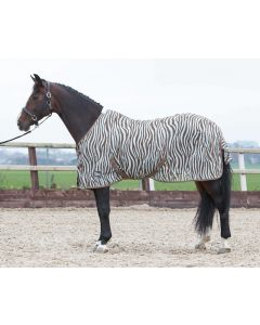 Harry's Horse Flysheet mesh estándar con cincha, pluma de cebra