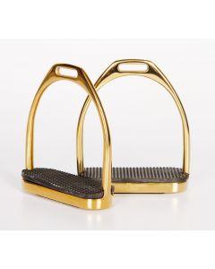Soportes de acero inoxidable de Harry's Horse rectos, oro 12 cm