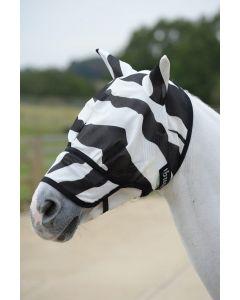 Bucas Máscara de anti mosca de cebra Buzz-Off con nariz