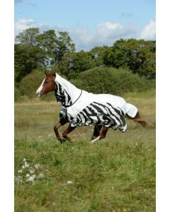 Bucas Buzz-off Rain Zebra Full Neck