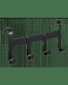 Hofman Soporte de cabestro de metal con 4 ganchos de suspensión negro