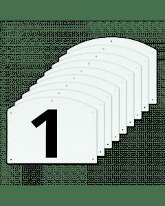 Vplast Mostrar números de salto del 1 al 9