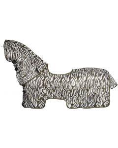 Harry's Horse Doble techo de malla con cuello desmontable y el filete fino para saddlebone de piel de oveja bridoon to hog-out