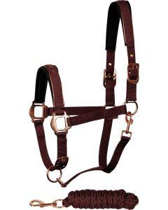 Harry's Horse Conjunto cabestro Just Ride Rosegold