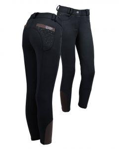 QHP Pantalones de montar Junior Pearl Black 140
