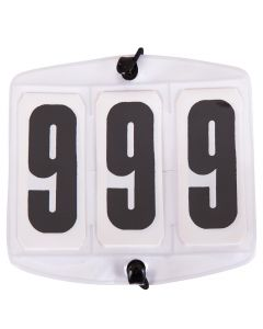 Números de inicio blancos