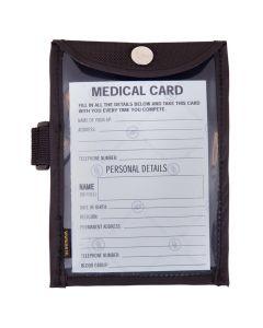 Tarjeta médica BR en soporte de brazo