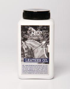 Aceite de cuero de caballo de Harry / cera de abejas con brocha (500 ml.) Cantidad