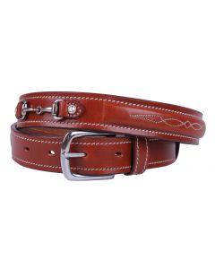 QHP Cinturón Ricki Negro 65cm