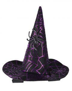 QHP Sombrero de bruja Halloween caballo Araña