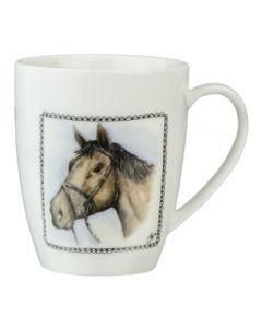 Granja tienda café taza caballo