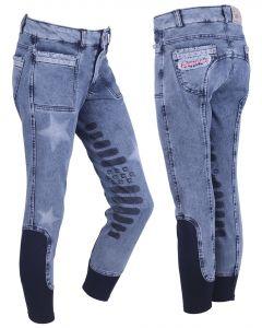 QHP Pantalón de montar Rosanne Junior leg grip