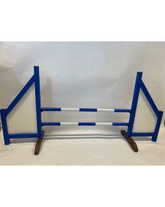Obstáculo azul (cerrado) completo con dos barras de resorte y 4 soportes de suspensión