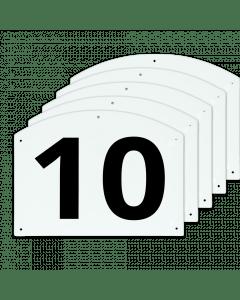 Vplast Mostrar números de salto del 10 al 15