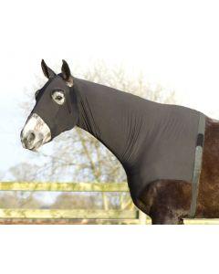 QHP Lycra protector de cuello negro