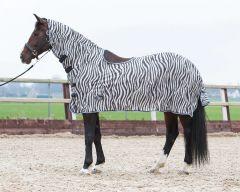 Malla de volante de Harry's Horse, corte de cuello y saddlebone, gris cebra