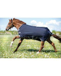 Manta para ejercicio de peso intermedio (200 g) Horseware Rambo Original con arcos en las patas