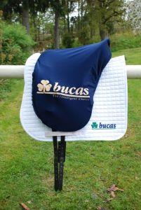 Bucas  Cobertor para montura Cover. Shaped. Navy.Bucas Logo