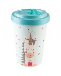 PFIFF Taza de café para llevar 'DREAMING UNICORN' bambú