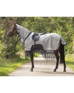 QHP Manta de sábana para la la manta riñoneras Fly con flecos