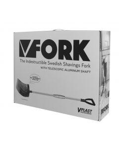 Hofman Tenedor para estiércol de plástico Vplast con mango de aluminio en una caja