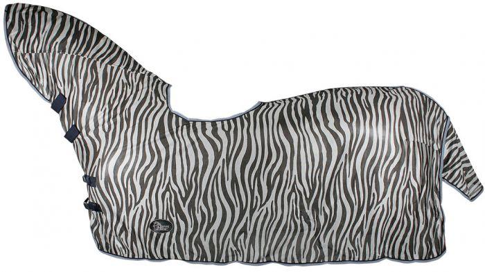 Harry's Horse Mantilla bridoon to hog-out de malla de doble techo, cuello y piel de oveja, gris cebra
