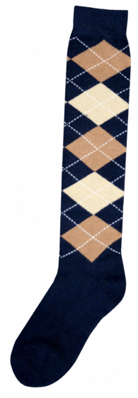 Excellent Calcetines hasta la rodilla RE d.blue / l.brown / beige 43-46