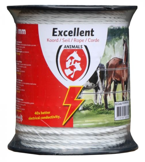 Hofman Cable Excellent Plus 200 m / 6 mm blanco